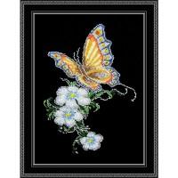 """Набор для вышивания крестом ОВЕН """"Бабочка на цветке"""""""