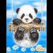 """Схема для вышивания бисером ТЭЛА АРТИС """"Ромашковая панда"""""""