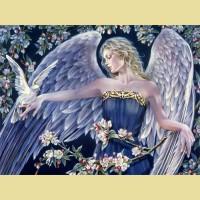 """Схема для вышивания лентами  ASTREA """"Ангельские прогулки"""""""