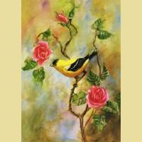 """Схема для вышивания лентами  ASTREA """"В мире птиц 1"""""""