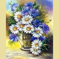 Набор алмазной живописи  АЛМАЗНАЯ ЖИВОПИСЬ «Ромашки с васильками»