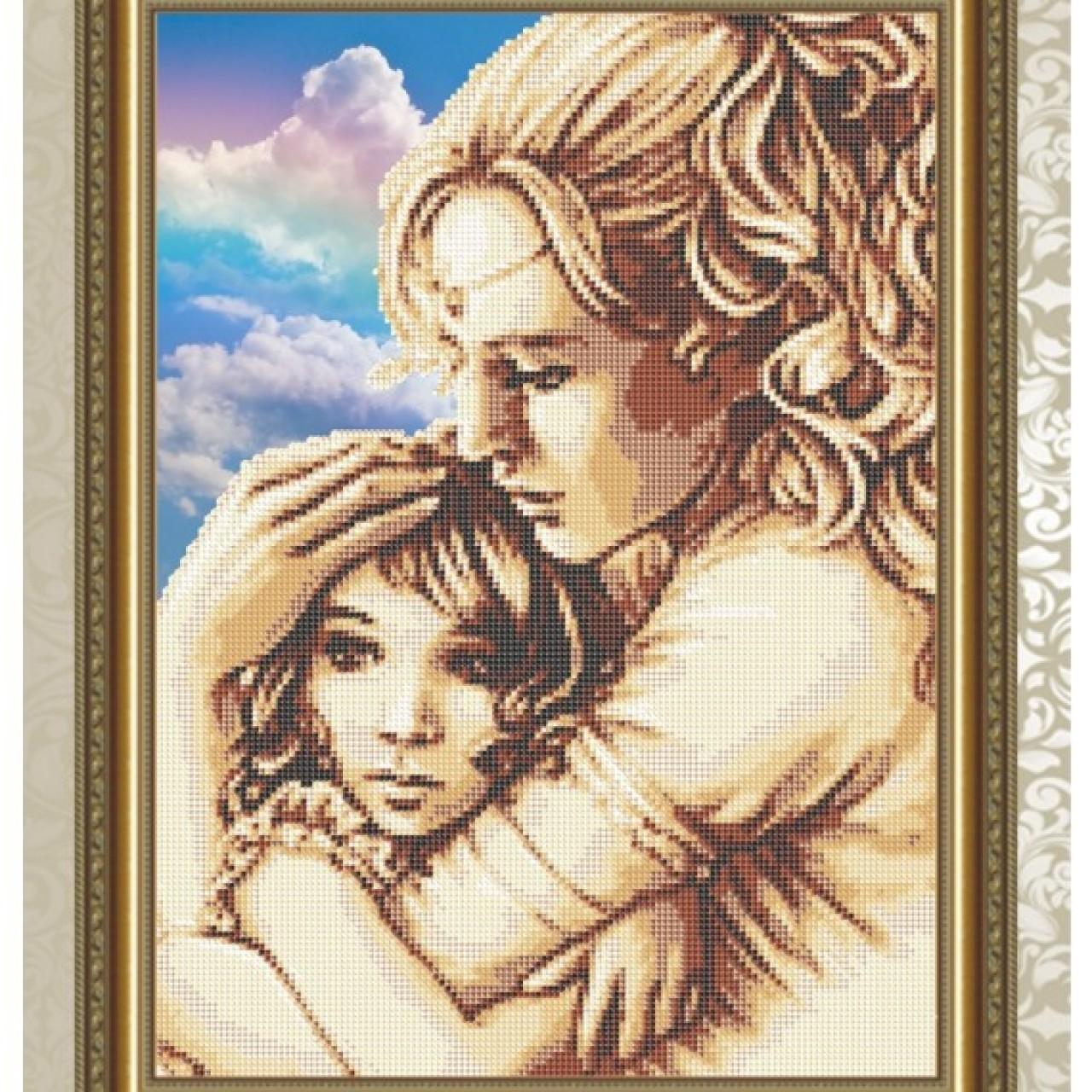 Вышивка мама с дочкой 83