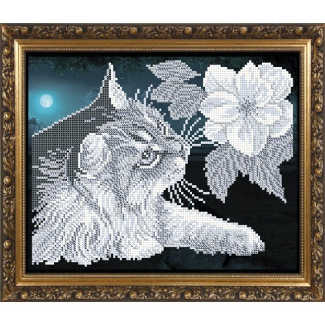 Вышивка бисером кота 39