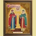 Набор алмазной вышивки АЛМАЗНАЯ ЖИВОПИСЬ «Икона Петр и Феврония»