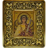 """Набор для вышивания в смешаной технике с рамкой INS+ """"Ангел Хранитель (золото, лилии)"""""""