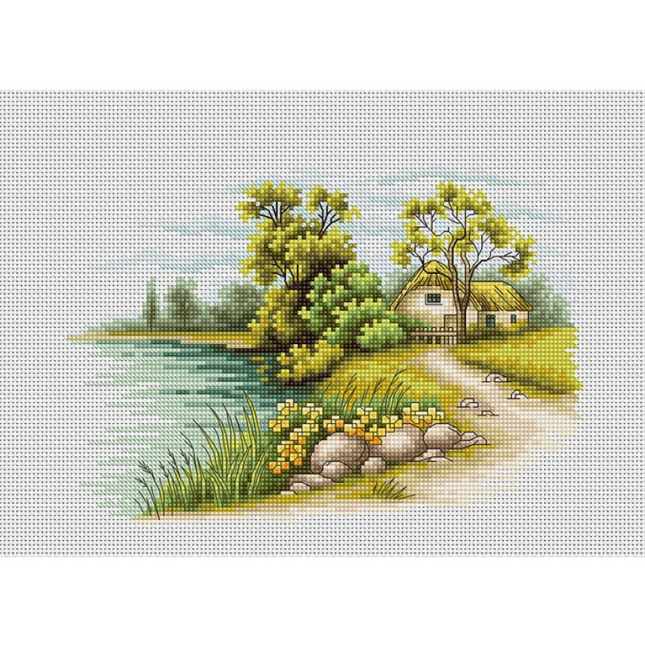 Вышивка крестом английские пейзажи
