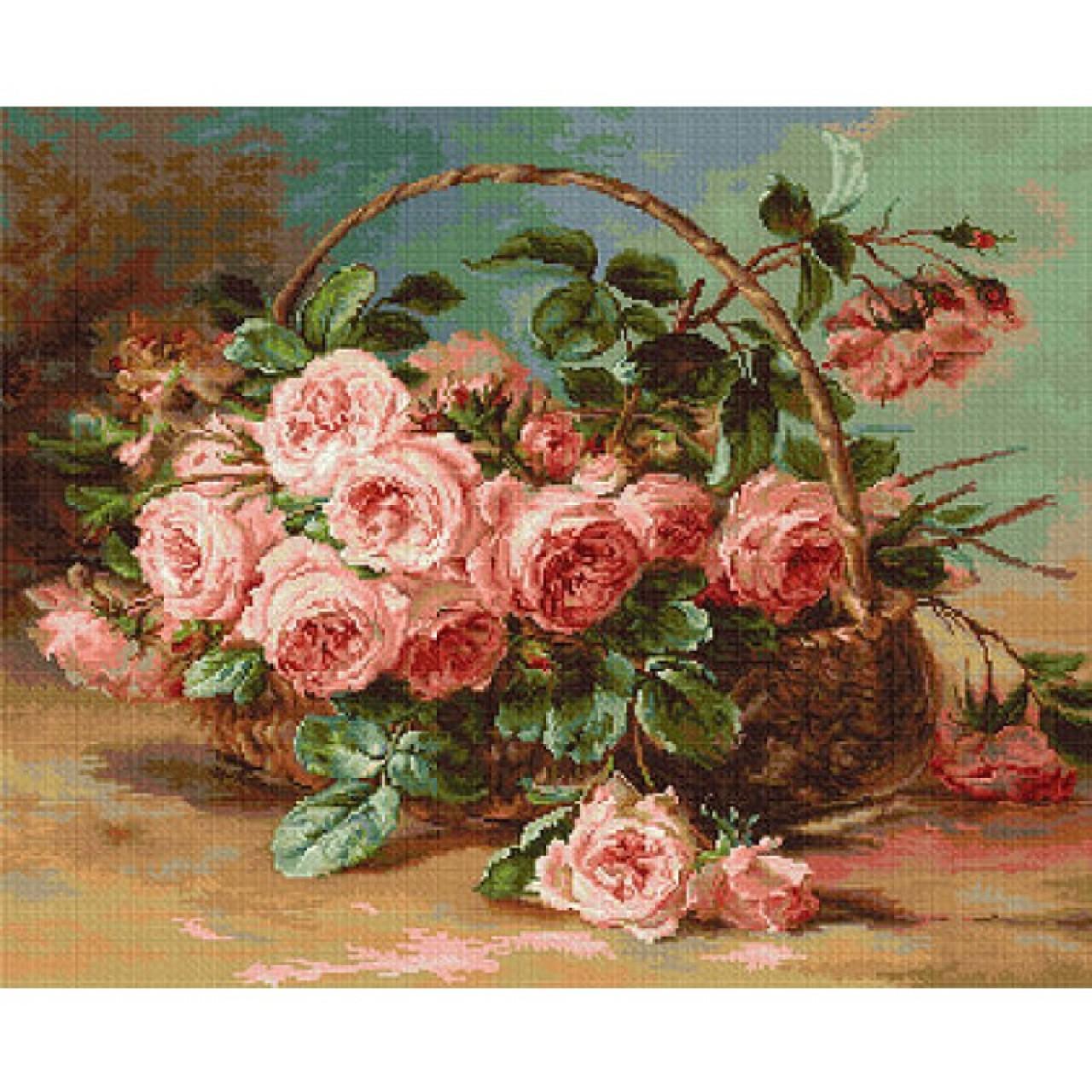 Вышивка крестом розы в корзине алиса 66