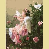 "Картина по номерам PAINTBOY ""Ангел и голуби"""