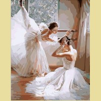"""Картина по номерам PAINTBOY """"Балерины перед выступлением"""""""