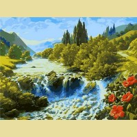 "Картина по номерам PAINTBOY ""Водопад в долине"""