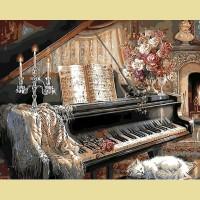 """Картина по номерам PAINTBOY """"Гостинная с роялем"""""""