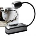 Мини лампа с одним светодиодом MIGHTY BRIGHT (для швейных машин) цв.серебристый