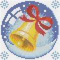 """Набор алмазной вышивки  АЛМАЗНАЯ ЖИВОПИСЬ """"Новогодний шарик с колокольчиком"""""""