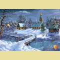 """Набор алмазной вышивки  АЛМАЗНАЯ ЖИВОПИСЬ """"Зима в деревне"""""""