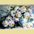 """Набор алмазной вышивки АЛМАЗНАЯ ЖИВОПИСЬ """"Белые розы"""""""
