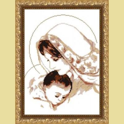 Вышивка крестом мария с младенцем 3