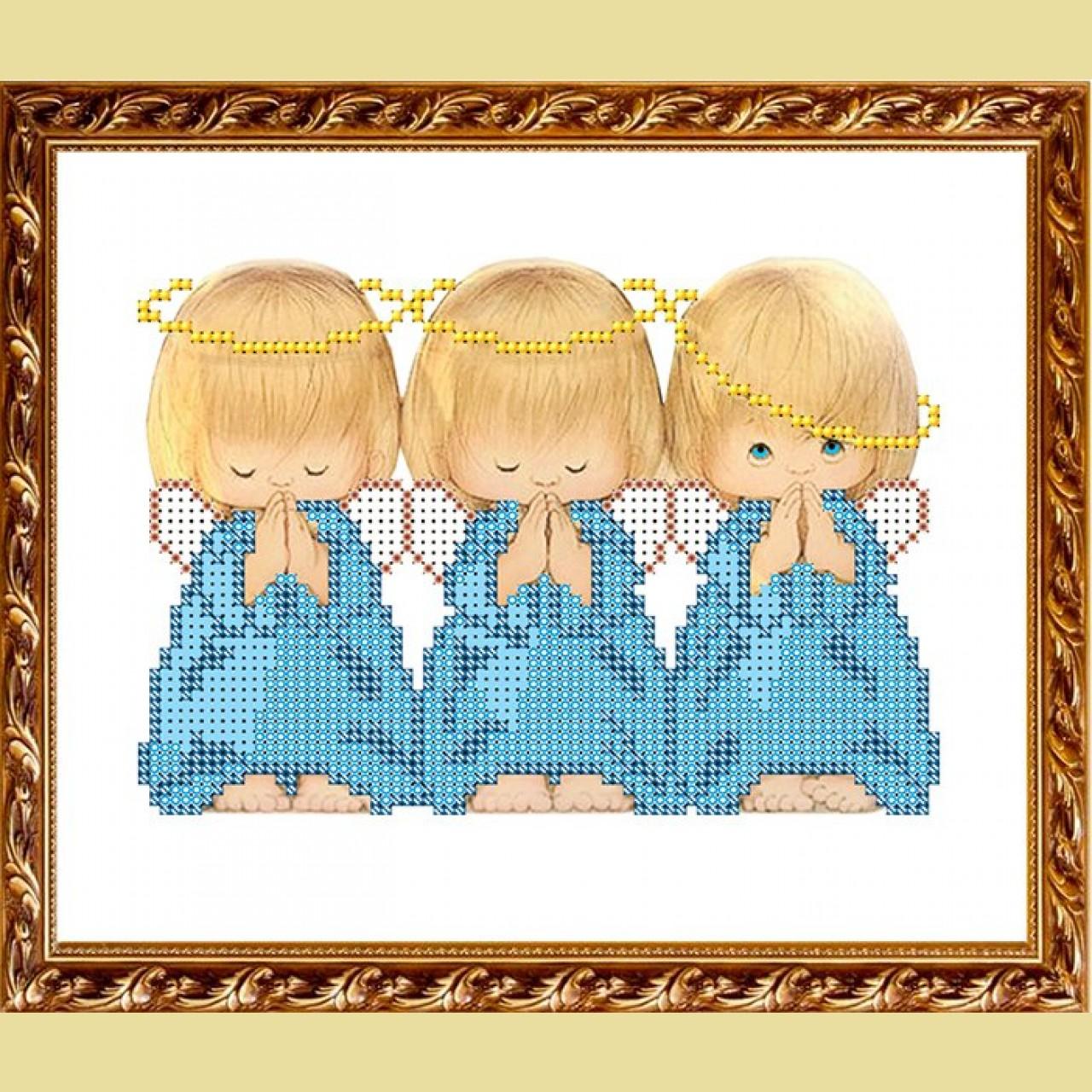 Фото вышивки три ангелочка крестиком