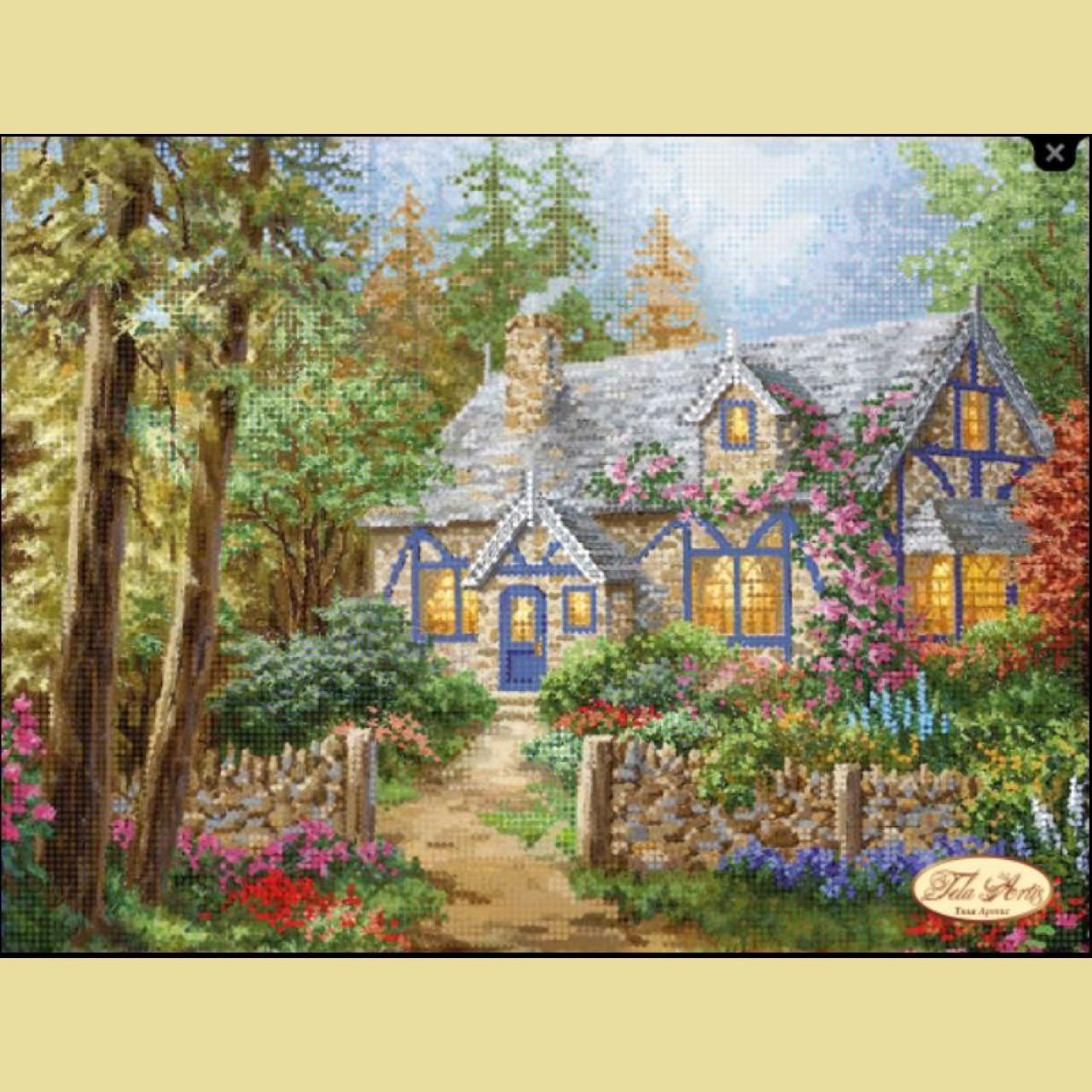 Вышивка бисером дом