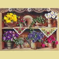"""Набор для вышивания лентами МАРИЧКА """"Бабушкины цветы"""""""