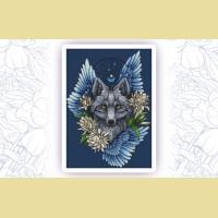 """Набор для вышивания нитками ASTREA  """"Ловец снов. Волк"""""""