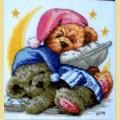 """Набор алмазной живописи АЛМАЗНАЯ ВЫШИВКА на подрамнике """"Спящие мишки"""""""