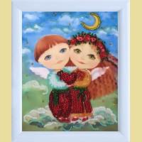 """Схема для вышивания бисером BUTTERFLY """"Ангелочки влюблены"""""""