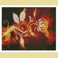 """Набор алмазной живописи АЛМАЗНАЯ ВЫШИВКА """"Огненный цветок"""""""