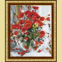 """Мозаичная картина COLOR KIT """"Букет маков"""""""