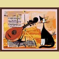 "Картина по номерам COLOR KIT ""Musical cat"""
