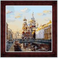 """Открытка по номерам COLOR KIT """"Виды Петербурга"""""""