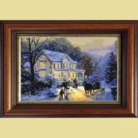 """Картина со стразами COLOR KIT """"Зимние гулянья"""""""