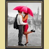"""Картина со стразами COLOR KIT """"Двое под зонтом"""""""