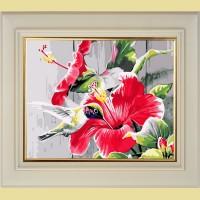 """Картина со стразами COLOR KIT """"Гибискуса цвет """""""