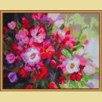 """Мозаичная картина COLOR KIT """"Алмазные цветы"""""""