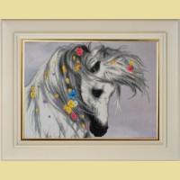 """Мозаичная картина COLOR KIT """"Белая лошадка"""""""