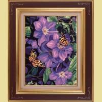 """Картина со стразами COLOR KIT """"Бабочки в лиловом"""""""