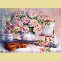 """Пазлы КАСТОР """"Вечерние розы"""""""
