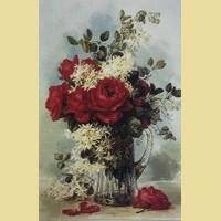 """Набор для вышивания бисером COLOR KIT """"Красные розы в кувшине"""""""
