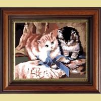 """Картина со стразами COLOR KIT """"Игра котят """""""