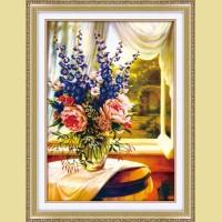 """Мозаичная картина COLOR KIT """"Букет с колокольчиками"""""""