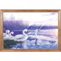 Схема для вышивания  Лебеди на закате