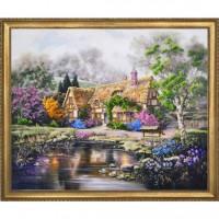 Набор для вышивания Дом с лилиями