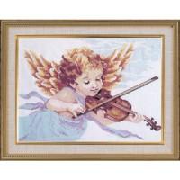 """Набор для вышивания крестом ОВЕН """"Ангел со скрипкой"""""""