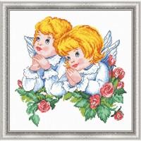 """Набор для вышивания крестом ОВЕН """"Ангелочки"""""""