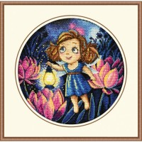 """Набор для вышивания крестом ОВЕН """"Алиса и светлячки"""""""