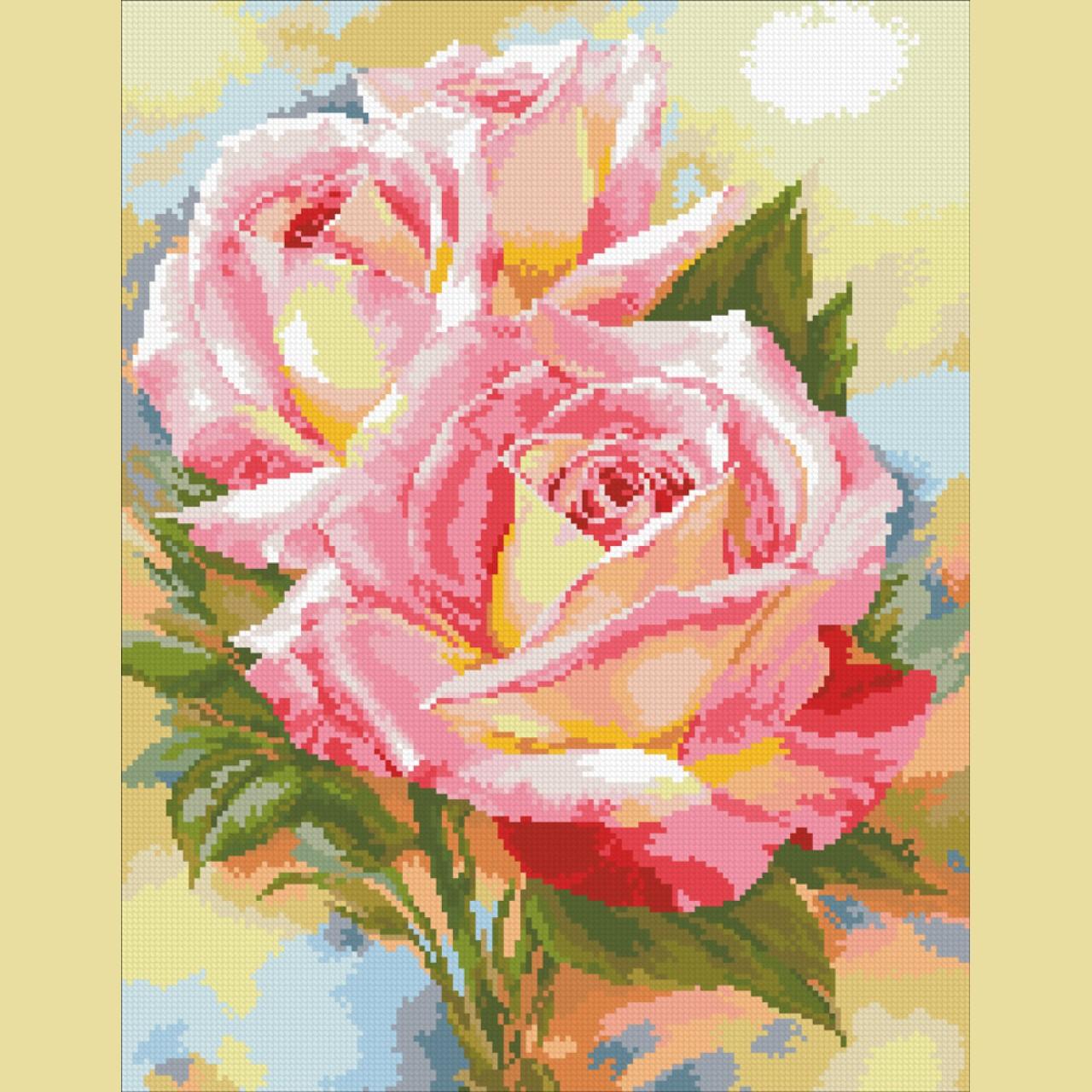 Схема алмазной вышивки розы