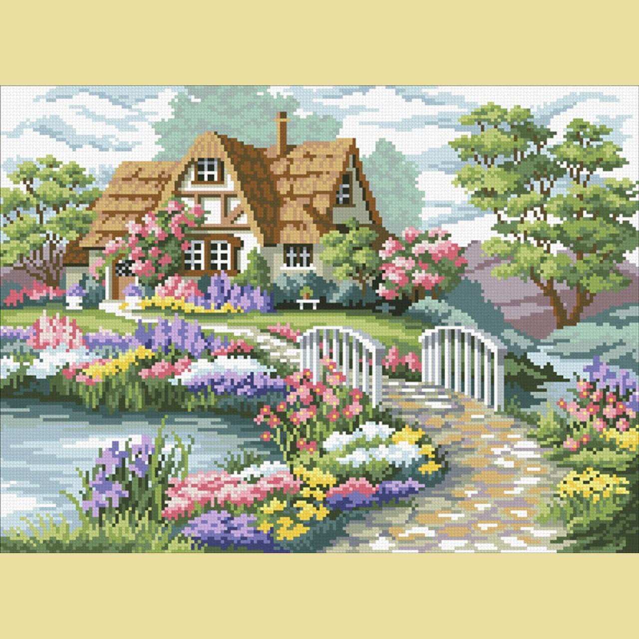 Картины для вышивки крестом белоснежка