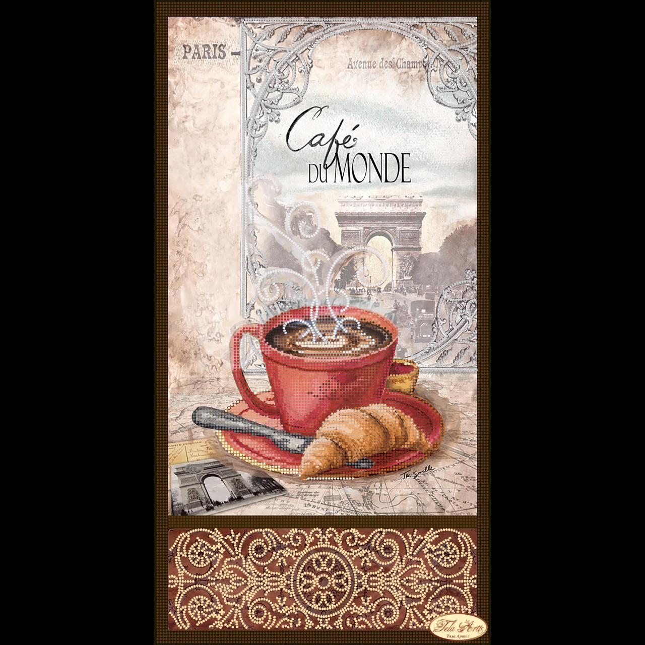 Вышивка бисером кофе в париже 96