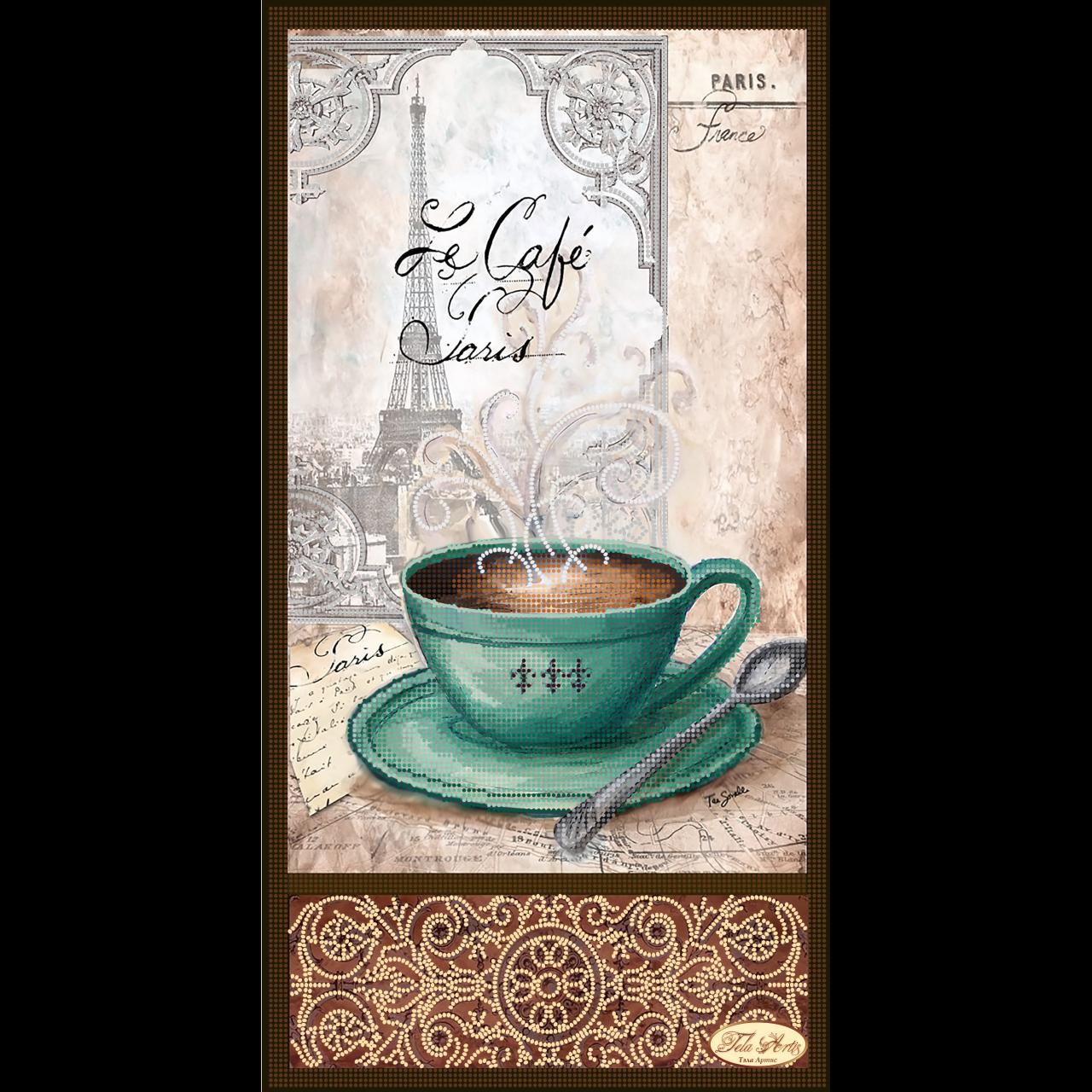 Вышивка бисером кофе в париже 29