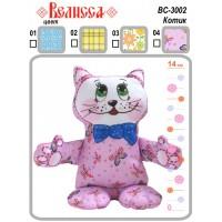 """Набор для изготовления мягкой игрушки ТМ ВЕЛИССА """"Котик"""""""